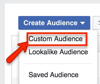 Create Facebook Custom Audience
