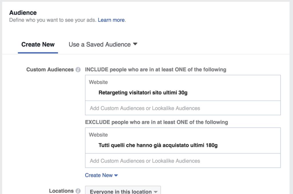 Facebook Retargeting Audience
