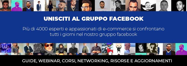 gruppo facebook su business ecommerce